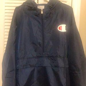 Champion Navy Blue Windbreaker/Rain Jacket (New)